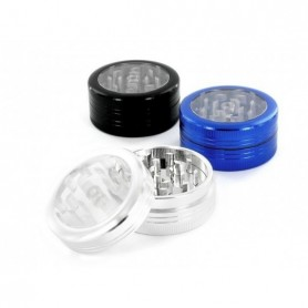 Grinder tapa transparente 63mm Negro Pure Grinders