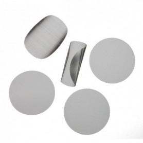 Filtro de acero para resina 25 mm (5 Unidades)