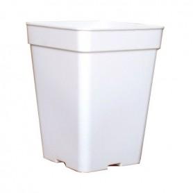 Maceta cuadrada blanca 11 litros