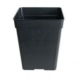Maceta cuadrada negra  3,5 litros