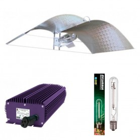 Kit 600 W Lumatek electrónico con regulador + Adjust a wing profesional medium + Sylvania Grolux