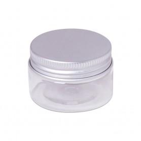 Bote plastico 30 ml redondo tapa aluminio