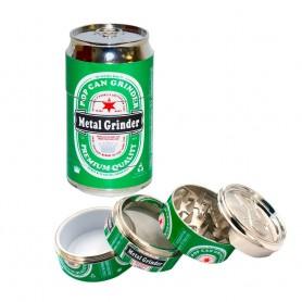 Grinder lata bebida