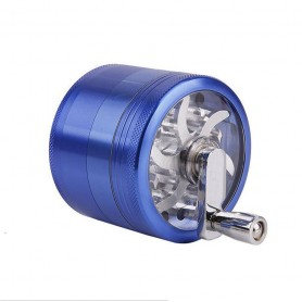 Grinder tapa transparente con manivela 63mm Azul Pure Grinders