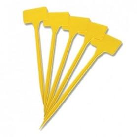 Etiquetas pincho 15 cm amarillas (10und)
