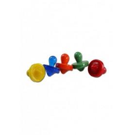 Kaps pequeño vidrio -diferentes colores-