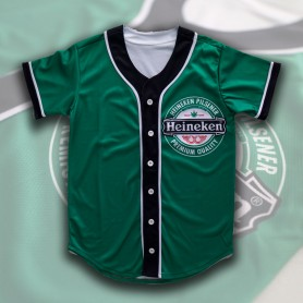 Camiseta Beisbol Heineken