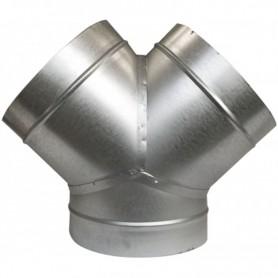 Unión metálica en Y 125mm